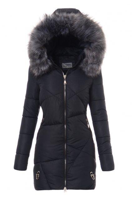 Dámska zimná bunda s kapucňou 3486 modrá