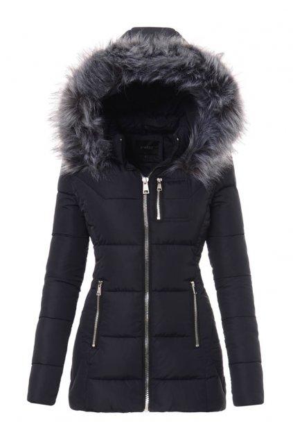 Dámska zimná bunda s kapucňou 3466 modrá
