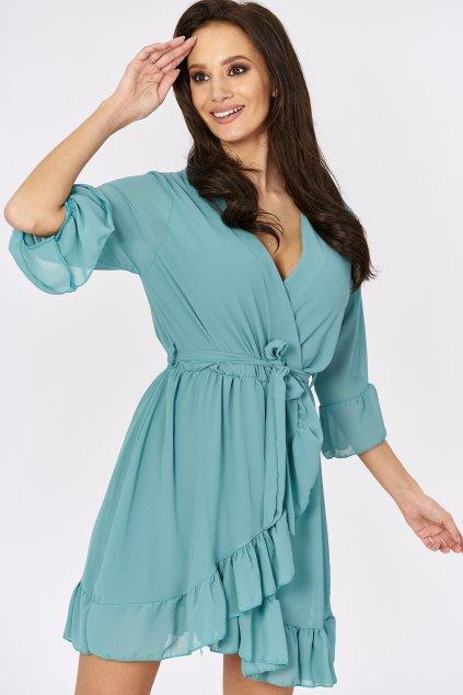 kopertowa sukienka z szyfonu (1)