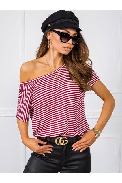 pol pl Bialo bordowy t shirt Gina RUE PARIS 348051 1