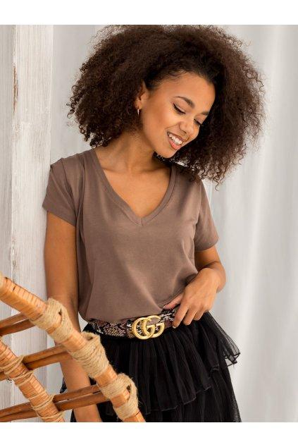 Dámske tričko s krátkym rukávom Emory hnedé