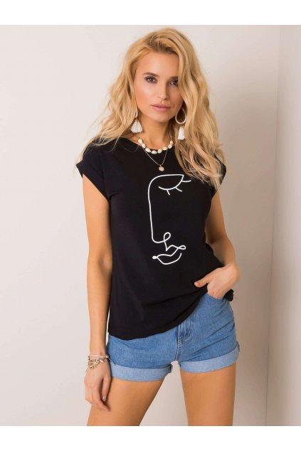 pol pl Czarny t shirt Romance RUE PARIS 351328 1