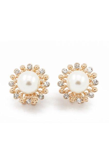 Zlaté náušnice big perla