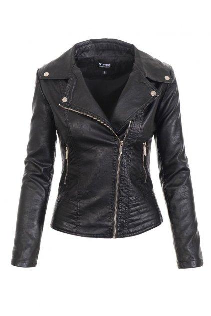 Dámska kožená bunda 4735 čierna
