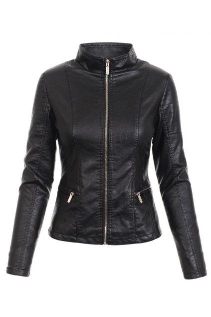 Dámska kožená bunda 4723 čierna