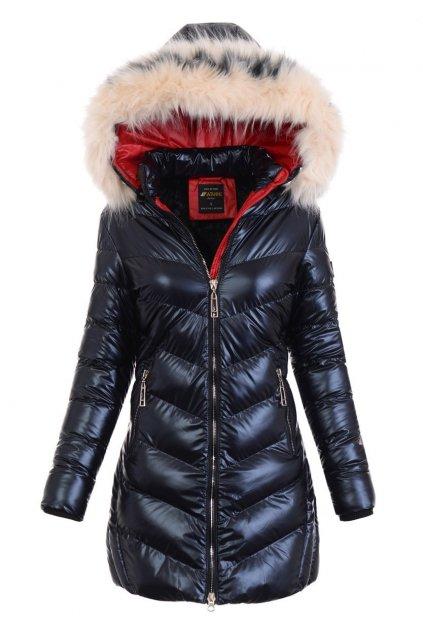 Dámska zimná bunda s kapucňou 4789 modrá