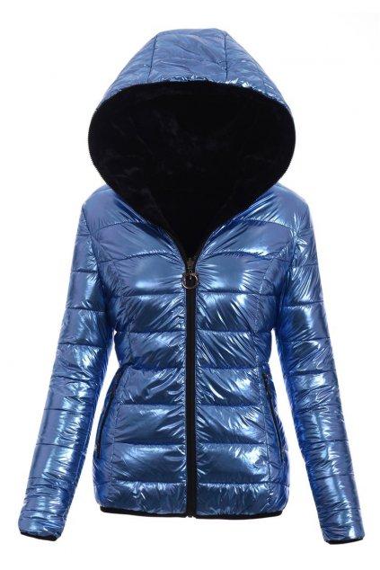 Dámska zimná bunda s kapucňou 4775 modrá