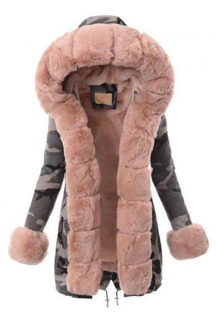 Dámska zimná bunda parka s kapucňou 4878