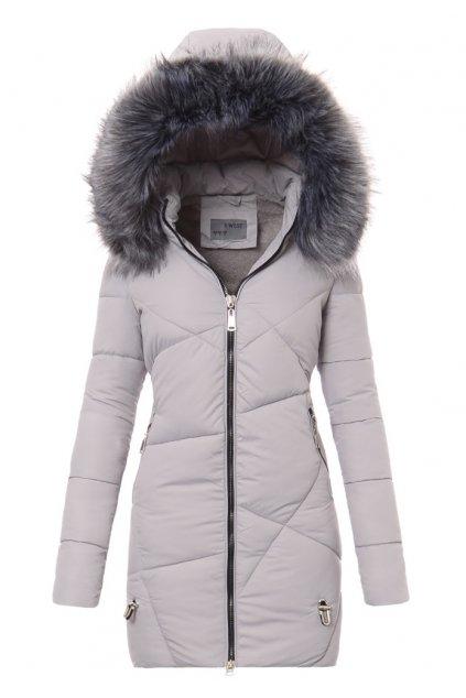 Dámska zimná bunda s kapucňou 4760 šedá