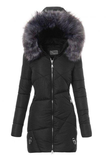 Dámska zimná bunda s kapucňou 4756 čierna
