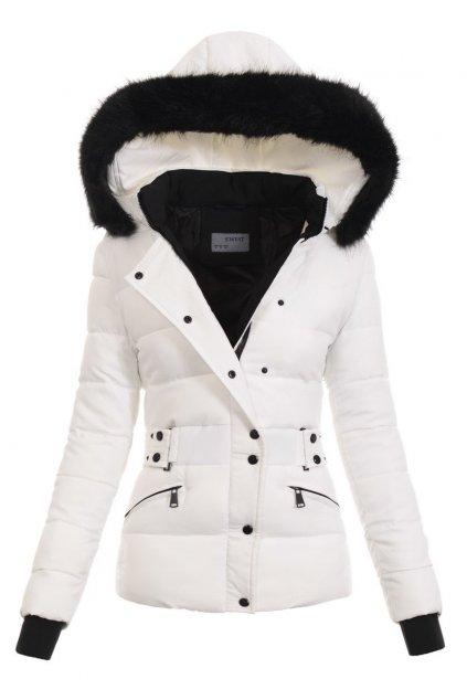 Dámska zimná bunda s kapucňou 4773 biela