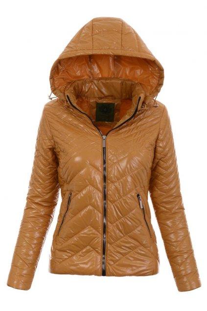 Dámska prechodná bunda s kapucňou 4890 hnedá