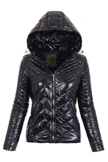 Dámska prechodná bunda s kapucňou 4888 čierna