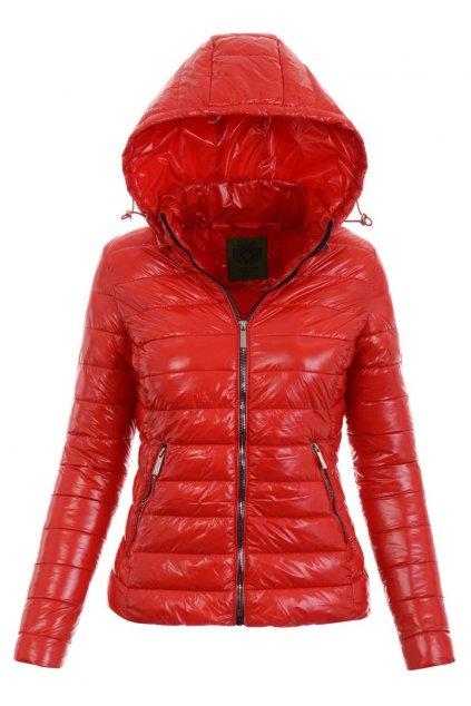 Dámska prechodná bunda s kapucňou 4892 červená