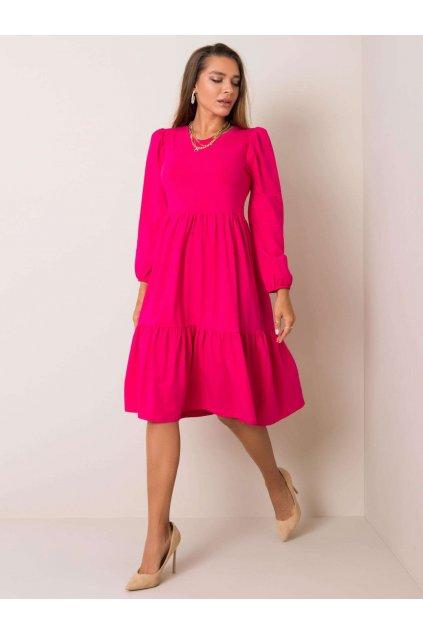 pol pl Ciemnorozowa sukienka Yonne RUE PARIS 354176 1