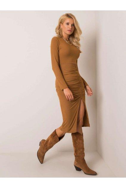 pol pl Jasnobrazowa sukienka Mikka 355120 1