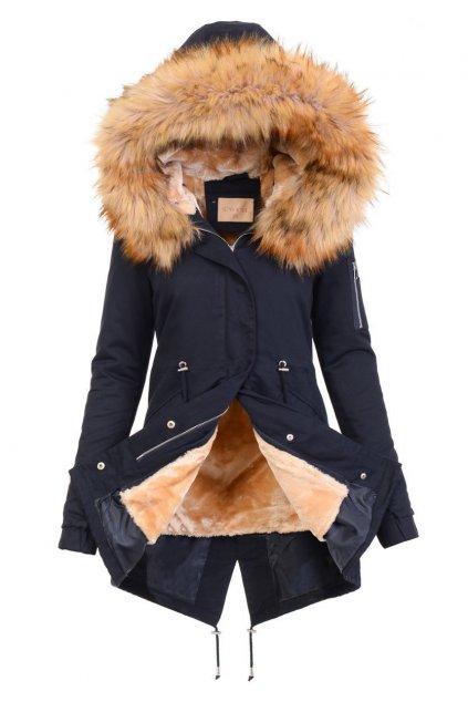 Dámska zimná bunda parka 2v1 5076 modrá