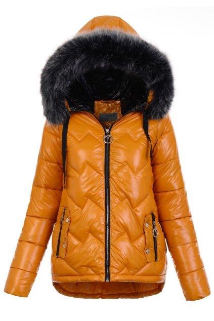 Dámska zimná bunda s kapucňou 5110 žltá