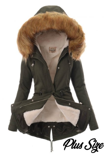Dámska zimná bunda parka 2v1 5086 zelená