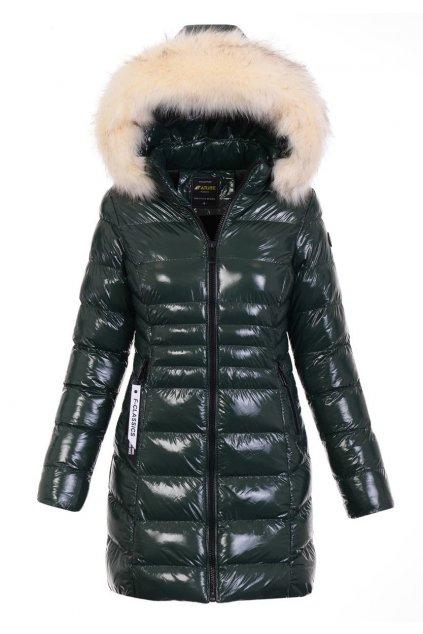 Dámska zimná bunda s kapucňou 5105 zelená