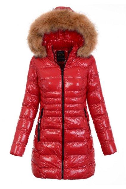 Dámska zimná bunda s kapucňou 5106 červená