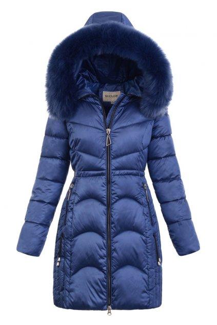 Dámska zimná bunda s kapucňou 5177 modrá