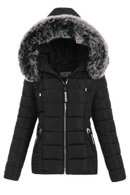 Dámska zimná bunda s kapucňou 5128 čierna