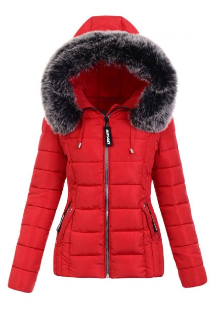 Dámska zimná bunda s kapucňou 5131 červená