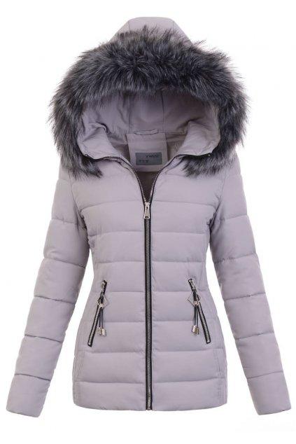 Dámska zimná bunda s kapucňou 5142 šedá