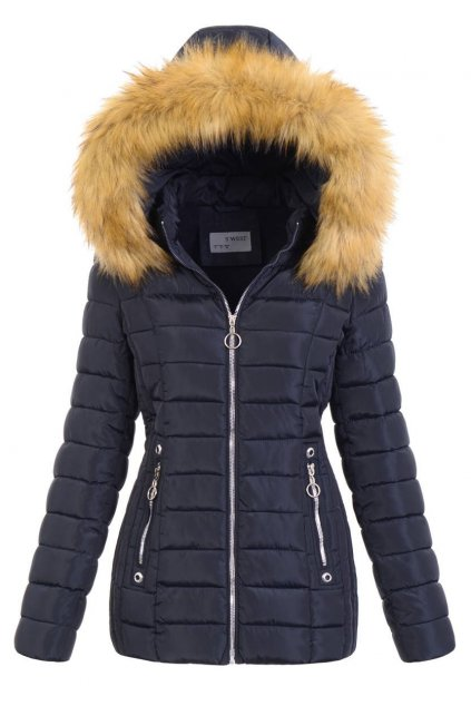 Dámska zimná bunda s kapucňou 5162 modrá