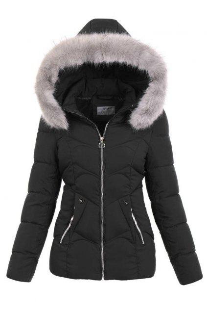 Dámska zimná bunda s kapucňou 5133 čierna
