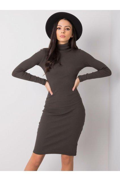 pol pl Ciemna khaki sukienka Livia RUE PARIS 358302 2
