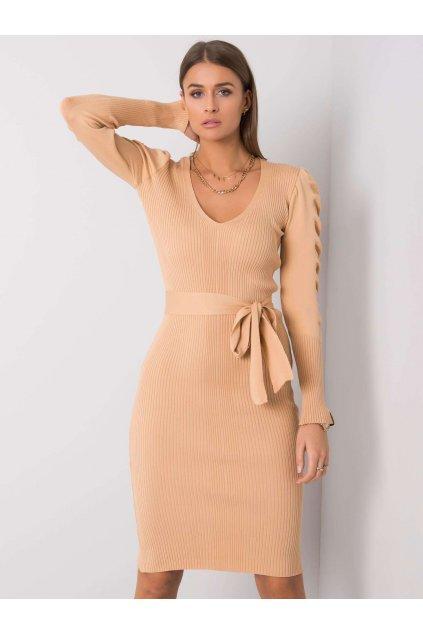 pol pl Bezowa sukienka Olive RUE PARIS 356386 1