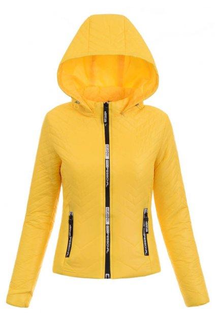 Dámska prechodná bunda s kapucňou 5427 žltá