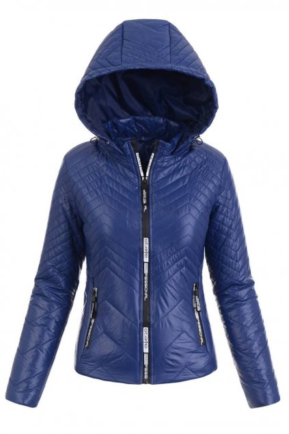 Dámska prechodná bunda s kapucňou 5425 modrá