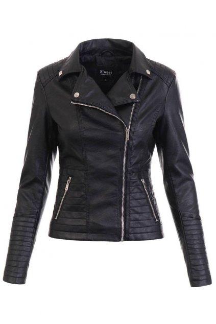 Dámska kožená bunda 5470 čierna