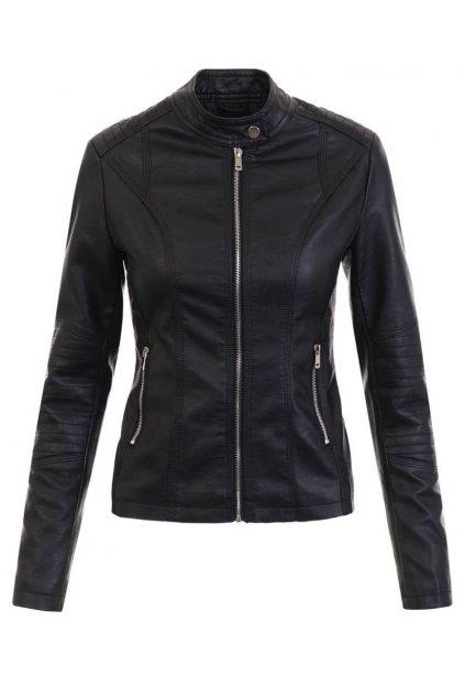 Dámska kožená bunda 5451 čierna
