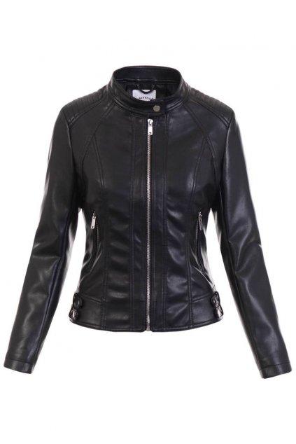 Dámska kožená bunda 5497 čierna