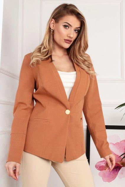 Dámske elegantné sako škoricové
