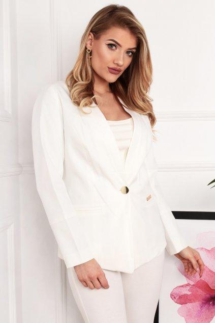 Dámske elegantné sako Melody biele