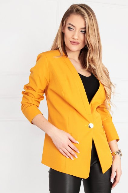 Dámske elegantné sako Melody biela žlté