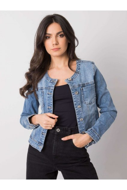 pol pl Niebieska jeansowa kurtka damska Salerno 361486 1