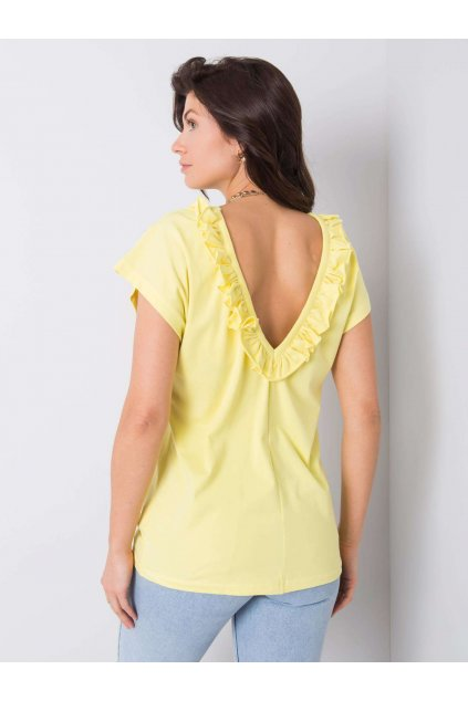 pol pl Zolta bluzka z falbankami Leanne 363354 1