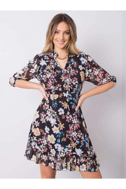 pol pl Czarna sukienka w kwiaty Verity 364091 1