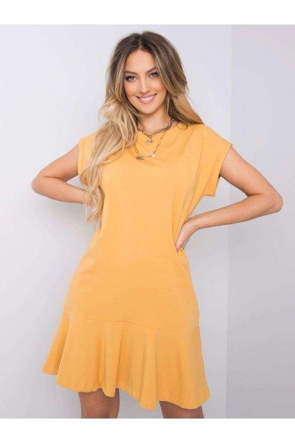 pol pl Musztardowa sukienka z falbana River 363389 1