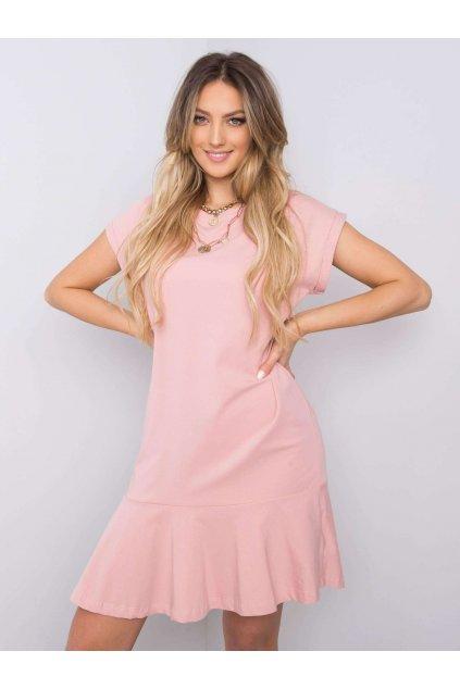 pol pl Brudnorozowa sukienka z falbana River 363390 1