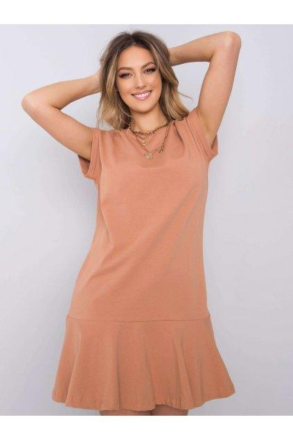 pol pl Jasnobrazowa sukienka z falbana River 363391 1