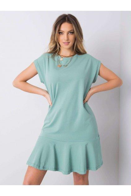 pol pl Pistacjowa sukienka z falbana River 363392 1