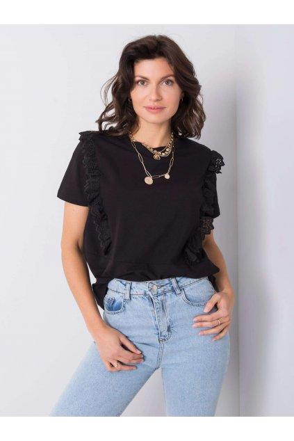 pol pl Czarny t shirt z falbanami Mylene 363401 1