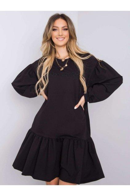 pol pl Czarna sukienka z falbana Janelle 363381 1